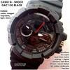 JAM TANGAN CASIO G-SHOCK GAC 100 DUAL TIME BLACK KW SUPER