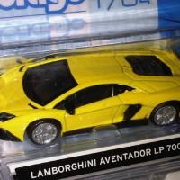 Diecast burago 1:64 Lamborghini Aventador LP 700-4 Kuning