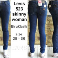 Celana Wanita Jeans Cewek Murah Merk LEVIS 523 SKINNY WOMAN BIRUKLASIK
