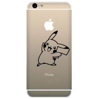 Tokomonster Decal Sticker Apple iPhone - Pokemon Pikachu Smile - 4 Pcs