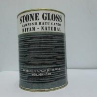 Stone Gloss/Cat Batu Alam Hitam Natural Anti Lumut dan Jamur
