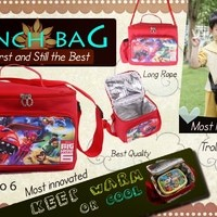 Lunch Box Bag - Karakter Cars, pooh, Hkitty, minion - Tas kotak makan