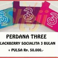 PERDANA THREE BLACKBERRY SOCIALITA 3 BULAN + PULSA