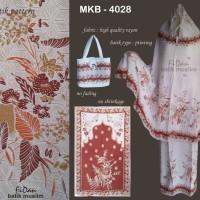 MKB-4028 Mukena Batik Printing Bahan Rayon motif Coklat