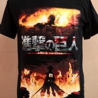 Jual T-shirt Kaos Anime shingeki no kyojin/attack on titan Murah