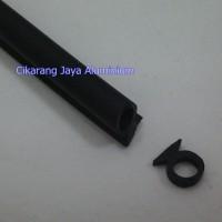 karet hitam stoper / stopper / pentokan pintu & jendela aluminium 606