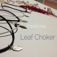 Kalung Choker Selebrity Trendy - 3 Sets Summer Set Leaf Charm