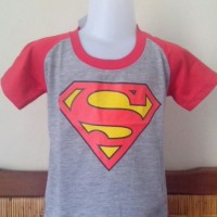 kaos anak karakter logo superman