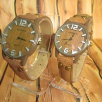 COUPLE WATCH FOSSIL FAMOUS HARGA SEPASANG