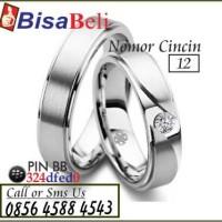 cincin kawin tunangan pernikahan terbaru emas perak palladium no.12