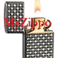 Zippo Armor Engine Turn Star Ebony 28186