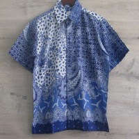 Kemeja Batik Indigo