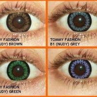 Softlens Omega Tommy Fashion B1 Nudy Brown Grey Disposible
