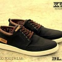 Sepatu Canvas Casual Pria Murah Gaul - Prodigo Kutai Black ORIGINAL