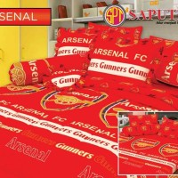 Seprei Saputra Football - Arsenal BED COVER SET 160 x 200 cm