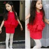 Celiya red kids dress