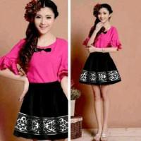 Pink set batik dress