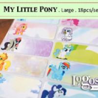 Jual My Little Pony LARGE Label nama waterproof. Sticker hasbro figurine Murah