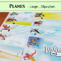 Planes LARGE Label nama waterproof. Sticker film disney airPlane cars