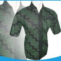 0715-15 Hem Batik Hijau | baju batik model terbaru lebaran 2015
