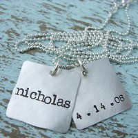 Necklace Dog Tag Name and Date / Kalung Nama Dog Tag