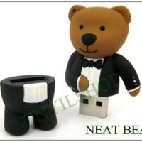FANCY FLASHDISK USB LUCU DAN UNIK NEAT BEAR / BERUANG JAS / BERUANG