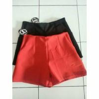 Hotpants back zipper 2 warna fit to L bahan tebal