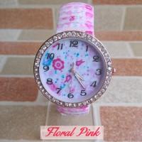 Jam Tangan Floral Pink