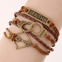 Gelang Korea Multicharm Brown Bow & Arrow KB37121