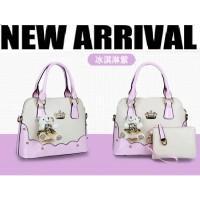 tas hobo baguettes wanita fashion korea import high quality ungu muda