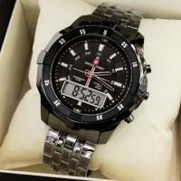 harga jam tangan pria swiss army dual time(rolex hublot casio puma fossil Tokopedia.com