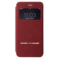 Baseus Terse Leather case for iPhone 6 Plus/6S Plus Red