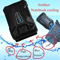 Ukuran & Tenaga Besar Exhaust Air Outlet Cooling Cooler Laptop CPU Fan