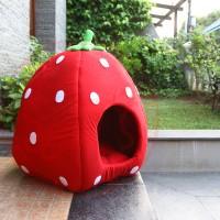 Jual Jual Strawberry PET BED / Kasur Anjing / Tempat Tidur Anjing Murah