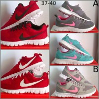 Sepatu Olahraga NIKE Free 37-40 Sport Shoes Senam Fitness Kets Running
