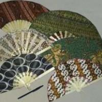 Kipas Motif Batik Souvenir Oleh- oleh Khas Jogja Cindera mata