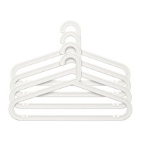 IKEA Bagis Hanger - Gantungan Baju Indoor / Outdoor - Putih, Isi 4pcs