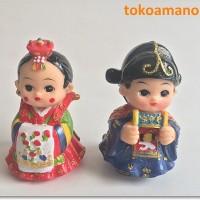 Hanbok Doll - Sepasang Boneka Tradisional Khas Korea Selatan II