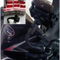 Holder Hp Motor Merk FLY untuk SEMUA MOTOR ( Bebek,Matic,Sport )