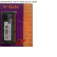 V-GEN SODIMM DDR3L 4GB PC-10600 / PC-12800 Original For NoteBook