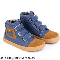harga Sepatu Casual Anak Laki-laki denim biru  garsel Shoes e 246 Tokopedia.com