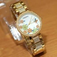 jam tangan fossil kembang date gold kw super