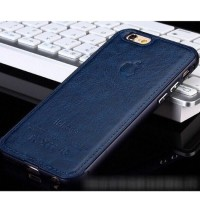 Casing HP Unik Premium Leather Case Navy Iphone 5/5s Iphone 6/6+