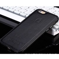 Casing HP Unik Premium Leather Case Black Iphone 5/5s Iphone 6/6+