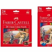 Pencil - Faber Castell - 24 Classic Colours (Art No 115854) (Per Dozen
