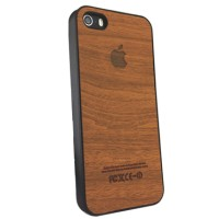 iPhone 4, 4s Rubber Wood Hard Case