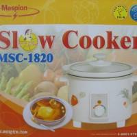 Slow Cooker 2 Liter Maspion MSC-1820 Murah (Alat buat Bubur)