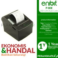 Printer Kasir Enibit P80 Thermal Pos Receipt 80mm Auto /USB+Ethenet