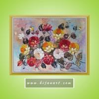harga BD140 - Lukisan Bunga Mawar 3 Warna Tokopedia.com