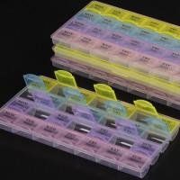 Kotak Obat Persegi 7-Hari / 7-Warna / 28-Kotak